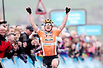 Megan Guarnier (USA) Boels Dolmans Cycling team wins Stage 2 of the Asda Womens Tour de Yorkshire 2018 running from Barnsley to Ikley, England. 4th May 2018.<br /> Picture: ASO/Alex Broadway | Cyclefile<br /> <br /> <br /> All photos usage must carry mandatory copyright credit (&copy; Cyclefile | ASO/Alex Broadway)