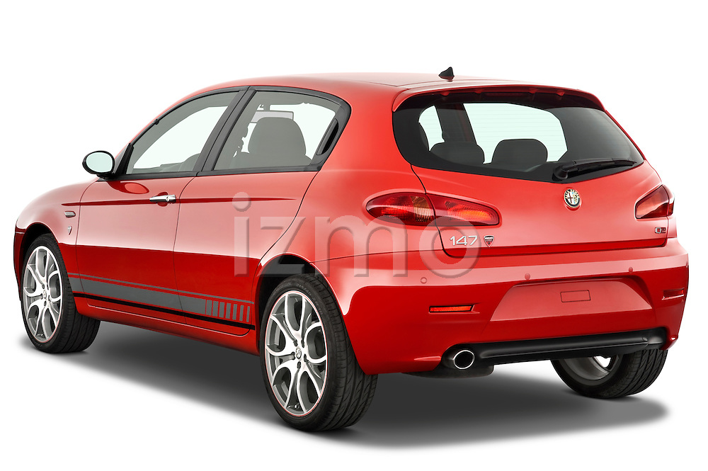 Rear three quarter view of a 2000 - 2010 Alfa Romeo 147 5 Door Ducati Corse Hatchback.