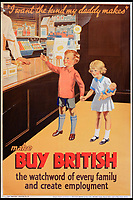 BNPS.co.uk (01202 558833)<br /> Pic:  OnslowAuctions/BNPS<br /> <br /> History repeating itself...All age groups were targeted.<br /> <br /> 'Buy British' campaign posters from the early 1930's that chime with a modern audience full of Brexit fears are being sold by Onslows auctioneers in Dorset.<br /> <br /> The jingoistic campaign was created by Edward, Prince of Wales following the Great Depression and exhorted the population to buy British goods to protect British jobs.<br /> <br /> The future Edward VIII fronted a campaign to get Brits to stop importing foreign goods in a bid to boost the economy, making an official announcement in November 1931 stating the nation was buying 'more than it could afford' from abroad and that Brits should 'buy at home'.<br /> <br /> To support his message, 26 posters were issued on a weekly basis to Britain's factories carrying slogans demanding workers to do their bit and purchase local goods.
