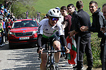 Ben King (USA) Team Dimension Data on the Ixua a brutal 20% off road climb during Stage 5 of the Tour of the Basque Country 2019 running 149.8km from Arrigorriaga to Arrate, Spain. 12th April 2019.<br /> Picture: Colin Flockton | Cyclefile<br /> <br /> <br /> All photos usage must carry mandatory copyright credit (© Cyclefile | Colin Flockton)