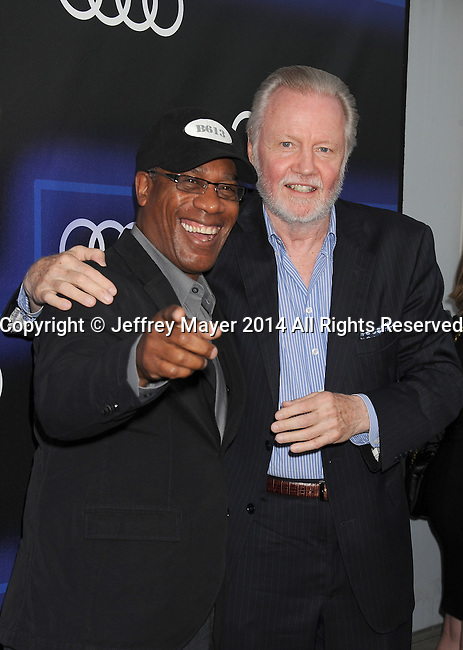 LOS ANGELES, CA- AUGUST 21: Actors Joe Morton (L) and Jon Voight arrive at the Audi Emmy Week Celebration at Cecconi's Restaurant on August 21, 2014 in Los Angeles, California.