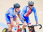 Jiri Hochmann and Martin Blaha of Czech Republic compete in the Men's Madison 50 km Final during the 2017 UCI Track Cycling World Championships on 16 April 2017, in Hong Kong Velodrome, Hong Kong, China. Photo by Marcio Rodrigo Machado / Power Sport Images