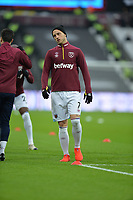 during West Ham United vs Arsenal, Premier League Football at The London Stadium on 12th January 2019
