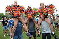 KAATSEN: WEIDUM: 23-08-2017, Dames PC, winnende drietal Sjanet Wijnia (koningin), Louise Krol, Imke van der Leest, ©foto Martin de Jong