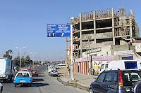 ETHIOPIA, Addis Ababa, road to African Union building / AETHIOPIEN, Addis Abeba, Strasse zu Gebaeude der Afrikanischen Union