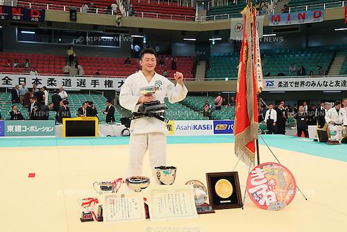 Hisayoshi Harasawa, APRIL 29, 2015 - Judo : 2015 All Japan Judo Championships Award ceremony at Nippon Budokan, Tokyo, Japan. <br /> (Photo by Yohei Osada/AFLO SPORT)