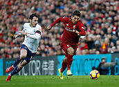 9th February 2019, Anfield, Liverpool, England; EPL Premier League football, Liverpool versus AFC Bournemouth; Roberto Firmino of Liverpool goes past Adam Smith of Bournemouth