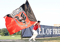 Flag bearer of D.C. United during a US Open Cup match against the Harrisburg City Islanders at the Maryland Soccerplex on July 21 2010, in Boyds, Maryland. United won 2-0.