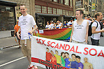 We Love Soaps Roger Newcomb and Kevin at Empire The Series, the Internet's Hottest Soap Opera Returns This Summer 2012 for its 4th season - Sex.Scandal.Soap. at Empire The Series march in the NYC Gay Pride Parade 2012 on June 24, 2012 marches from Fifth Avenue and 38 to the Village, New York City, New York. Ceck them out at Empiretheseries.com (Photo by Sue Coflin/Max Photos)