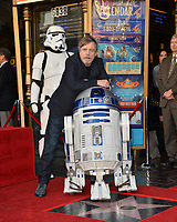 Mark Hamill &amp; R2-D2 at the Hollywood Walk of Fame Star Ceremony honoring actor Mark Hamill, Los Angeles, USA 08 March 2018<br /> Picture: Paul Smith/Featureflash/SilverHub 0208 004 5359 sales@silverhubmedia.com