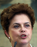 Brazilian President Dilma Rousseff  during press conference 19/06/2010