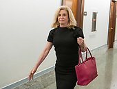 United States Representative Carolyn Maloney (Democrat of New York) walks toward the hearing room in the hallway during a break in the testimony of Dr. Christine Blasey Ford  before the US Senate Committee on the Judiciary on the nomination of Judge Brett Kavanaugh to be Associate Justice of the US Supreme Court to replace the retiring Justice Anthony Kennedy on Capitol Hill in Washington, DC on Thursday, September 27, 2018.  <br /> Credit: Ron Sachs / CNP<br /> (RESTRICTION: NO New York or New Jersey Newspapers or newspapers within a 75 mile radius of New York City)