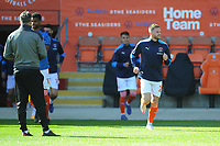 Blackpool's Oliver Turton during the pre-match warm-up <br /> <br /> Photographer Kevin Barnes/CameraSport<br /> <br /> The EFL Sky Bet League One - Blackpool v Swindon Town - Saturday 19th September 2020 - Bloomfield Road - Blackpool<br /> <br /> World Copyright © 2020 CameraSport. All rights reserved. 43 Linden Ave. Countesthorpe. Leicester. England. LE8 5PG - Tel: +44 (0) 116 277 4147 - admin@camerasport.com - www.camerasport.com