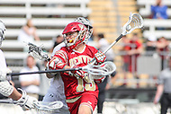 Towson, MD - March 25, 2017: Denver Pioneers Danny Logan (19) scores a goal during game between Towson and Denver at  Minnegan Field at Johnny Unitas Stadium  in Towson, MD. March 25, 2017.  (Photo by Elliott Brown/Media Images International)