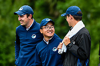 Jang Hyun Lee of Auckland with teammates, Toro New Zealand Mens Interprovincial Tournament, Clearwater Golf Club, Christchurch, New Zealand, 26th November 2018. Photo:John Davidson/www.bwmedia.co.nz