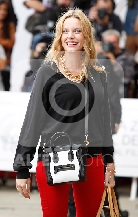 Actress Carolina Bang arrives to Maria Cristina Hotel to attend the 61 San Sebastian Film Festival, in San Sebastian, Spain. September 20, 2013. (ALTERPHOTOS/Victor Blanco)
