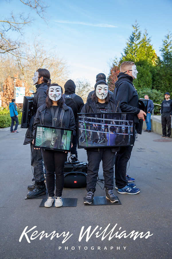Animal Cruelty Protesters, Seattle, WA, USA.