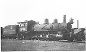 3/4 view of K-27 #451 at Alamosa scrapping.<br /> D&amp;RGW  Alamosa, CO  Taken by Best, Gerald M. - 7/3/1937