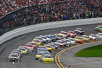 Early action, Daytona 500, Daytona INternational Speedway, February 23, 2014. (Photo by Brian Cleary/www.bcpix.com)