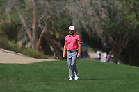 Tyrrell Hatton (ENG) walking down the 3rd during Round 2 of the Omega Dubai Desert Classic, Emirates Golf Club, Dubai,  United Arab Emirates. 25/01/2019<br /> Picture: Golffile | Thos Caffrey<br /> <br /> <br /> All photo usage must carry mandatory copyright credit (© Golffile | Thos Caffrey)