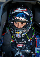 Sep 4, 2016; Clermont, IN, USA; NHRA funny car driver Courtney Force during qualifying for the US Nationals at Lucas Oil Raceway. Mandatory Credit: Mark J. Rebilas-USA TODAY Sports