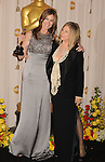 HOLLYWOOD, CA. - March 07: Director Kathryn Bigelow, winner of Best Director award for 'The Hurt Locker,' with presenter Barbra Streisand pose in the press room at the 82nd Annual Academy Awards held at the Kodak Theatre on March 7, 2010 in Hollywood, California.