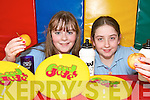 HEALTHY EATING:  Shannon McHugh and Breda Cremins, pupils from Curranes National School in Castleisland, who are taking part in the Food Dudes Programme..   Copyright Kerry's Eye 2008