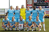 Sky Blue FC starting eleven. The Los Angeles Sol defeated Sky Blue FC 2-0 during a Women's Professional Soccer match at TD Bank Ballpark in Bridgewater, NJ, on April 5, 2009. Photo by Howard C. Smith/isiphotos.com