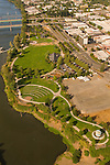 Aerial View of Riverfront City Park in Salem, Oregon
