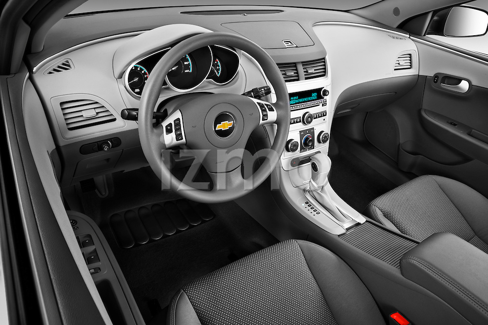 High angle dashboard view of a 2012 Chevrolet Malibu 1LS