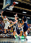 31 January 2010: University of Vermont Catamount guard/forward Kendra Seto (54), a Freshman from Oshawa, Ontario, in action against the University of New Hampshire Wildcats at Patrick Gymnasium in Burlington, Vermont. The Lady Catamounts defeated the visiting Wildcats 78-64. Mandatory Credit: Ed Wolfstein Photo