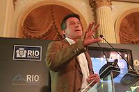 BOTAFOGO, RJ, 12 DE MARÇO DE 2013 - SEMINARIO SOBRE NEGOCIO, LONDES, GLASGOW - Abertura do seminário sobre negócios ?Londres, Glasgow, Rio - garantindo um legado a partir de mega eventos esportivos?, no Palácio da Cidade, em Botafogo, no Rio de Janeiro (RJ), nesta terça-feira (12). O evento contou com a presença do medalhista olímpico Sebastian Coe, que presidiu o comitê organizador dos Jogos de Londres 2012, da presidente da Empresa Olímpica Municipal, Maria Silvia Bastos, e do presidente do Comitê Organizador dos Jogos Olímpicos Rio 2016, Carlos Arthur Nuzman. FOTO: THIAGO LOUZA / BRAZIL PHOTO PRESS.