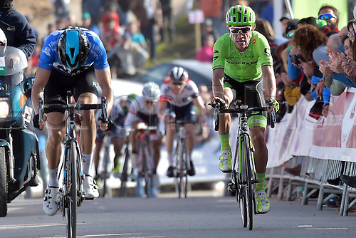 21.02.2016. Almodovor, Algarve, Portugal.  URAN URAN Rigoberto (COL)  of CANNONDALE PRO CYCLING TEAM crosses the finish line during stage 5 of the 42nd Tour of Algarve cycling race with start in Almodovar and finish in Malhao (Loule) on February 21, 2016 in Malhao, Portugal.