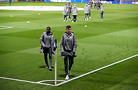 Leeds United's Eddie Nketiah and Illan Meslier head to the dressing rooms<br /> <br /> Photographer Alex Dodd/CameraSport<br /> <br /> The EFL Sky Bet Championship - Preston North End v Leeds United - Tuesday 22nd October 2019 - Deepdale Stadium - Preston<br /> <br /> World Copyright © 2019 CameraSport. All rights reserved. 43 Linden Ave. Countesthorpe. Leicester. England. LE8 5PG - Tel: +44 (0) 116 277 4147 - admin@camerasport.com - www.camerasport.com