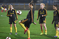 20191108 - Zapresic , BELGIUM : Belgian Maud Coutereels pictured during the female soccer game between the womensoccer teams of  Croatia and the Belgian Red Flames , the third women football game for Belgium in the qualification for the European Championship round in group H for England 2021, friday 8 th october 2019 at the NK Inter Zapresic stadium near Zagreb , Croatia .  PHOTO SPORTPIX.BE | DAVID CATRY
