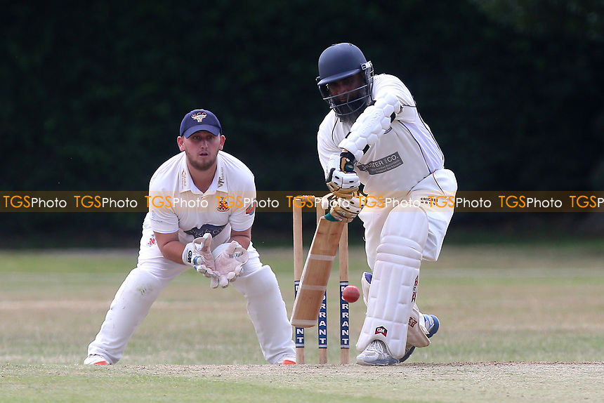 S Rahman in batting action for Upminster during Upminster CC vs Hornchurch CC, Shepherd Neame Essex League Cricket at Upminster Park on 8th July 2017