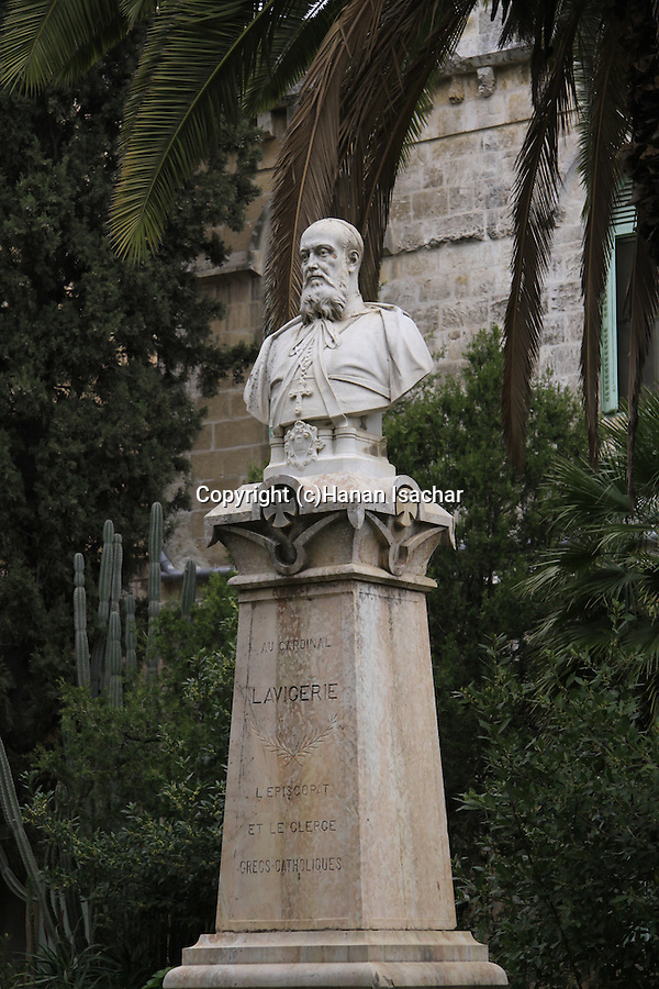 Israel, Jerusalem, A statue at the garden of Saint Anne Church, a 12th-century Crusader church, erected in honor of the birthplace of Anne (Hannah), the mother of Mary..