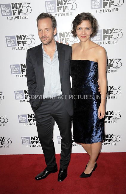 WWW.ACEPIXS.COM<br /> October 6, 2015 New York City<br /> <br /> Peter Sarsgaard and Maggie Gyllenhaal attend the premiere of 'Experimenter' during the 53rd New York Film Festival at Alice Tully Hall, Lincoln Center on October 6, 2015 in New York City.<br /> <br /> Credit: Kristin Callahan/ACE Pictures<br /> <br /> Tel: (646) 769 0430<br /> e-mail: info@acepixs.com<br /> web: http://www.acepixs.com