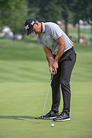 Charl Schwartzel (RSA) watches his putt on 2 during 1st round of the World Golf Championships - Bridgestone Invitational, at the Firestone Country Club, Akron, Ohio. 8/2/2018.<br /> Picture: Golffile | Ken Murray<br /> <br /> <br /> All photo usage must carry mandatory copyright credit (&copy; Golffile | Ken Murray)