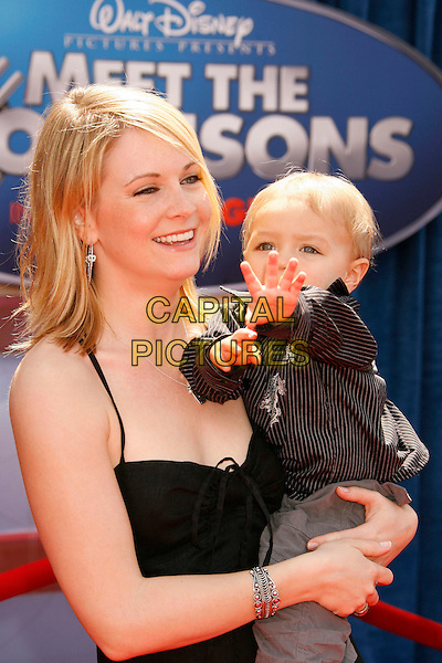 "MELISSA JOAN HART & SON.Attending the ""Meet The Robinsons"" Los Angeles Premiere held at the El Capitan Theatre, Hollywood, California, USA, 25 March 2007..half length mother mum family child .CAP/ADM/RE.©Russ Elliot/AdMedia/Capital Pictures."