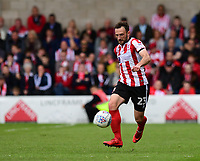 Lincoln City's Neal Eardley<br /> <br /> Photographer Chris Vaughan/CameraSport<br /> <br /> The EFL Sky Bet League Two Play Off First Leg - Lincoln City v Exeter City - Saturday 12th May 2018 - Sincil Bank - Lincoln<br /> <br /> World Copyright &copy; 2018 CameraSport. All rights reserved. 43 Linden Ave. Countesthorpe. Leicester. England. LE8 5PG - Tel: +44 (0) 116 277 4147 - admin@camerasport.com - www.camerasport.com