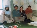 Iran 1984 .Hama Haji Mahmoud with visitors in Merivan .Iran 1984 .Hama Haji Mahmoud  recevant des visiteurs a Merivan
