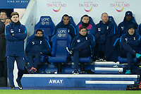 Tottenham manager Mauricio Pochettino looks on as his side go down 2-1 against Leicester City denting their premier league ambitions during the Premier League match between Leicester City and Tottenham Hotspur at the King Power Stadium, Leicester, England on 28 November 2017. Photo by James Williamson / PRiME Media Images.