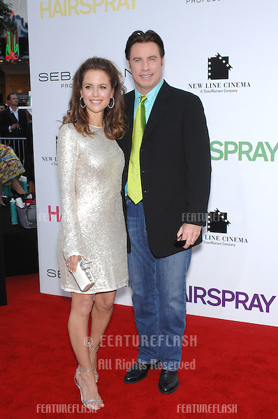 "John Travolta & Kelly Preston at the Los Angeles premiere of ""Hairspray"" at the Mann Village Theatre, Westwood..July 11, 2007  Los Angeles, CA.Picture: Paul Smith / Featureflash"