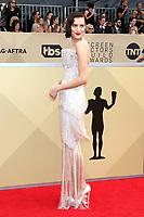 LOS ANGELES - JAN 21:  Allison Williams at the 24th Screen Actors Guild Awards - Press Room at Shrine Auditorium on January 21, 2018 in Los Angeles, CA