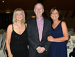 Mary Martin, Dermot and Caroline Caffrey pictured at the Ardee Traders awards night in Darver Castle. Photo:Colin Bell/pressphotos.ie