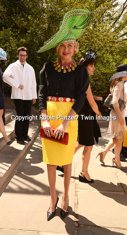 Barbara Regna attends the 32nd Annual Frederick Law Olmsted Awards Hat Luncheon given by The Central Park Conservancy on May 7,2014 in Central Park in New York City, NY USA.
