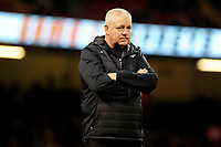 Barbarians head coach Warren Gatland during the pre match warm up for the International friendly match between Wales and Barbarians at the Principality Stadium in Cardiff, Wales, UK. Saturday 30 November 2019.
