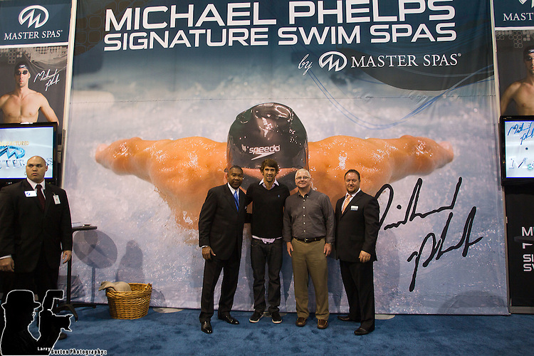 Pool and Spa, Michael Phelps at Master Spas, Swim Spa, booth
