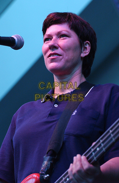 KIM DEAL of THE PIXIES .performs during the Opening Night of the CMJ MUSIC FEST held at a Sold Out, Rock & Roll Hall of Fame & Museum,  Cleveland, OH, USA, June 8, 2005.  .portrait headshot gig concert  bassist.Ref: ADM.www.capitalpictures.com.sales@capitalpictures.com.©Jason Nelson/AdMedia/Capital Pictures.